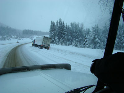 tractor off of Coquihalla