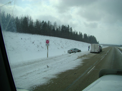accident outside of Edmonton Alberta Canada