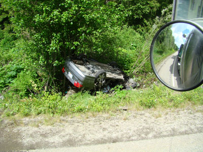 head on collision in Avola BC