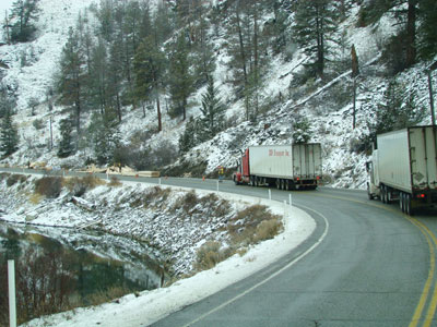 Lumber Truck Accident on Hwy 5a between Kamloops and Merritt