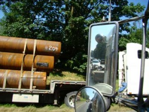 Pipe Truck Accident