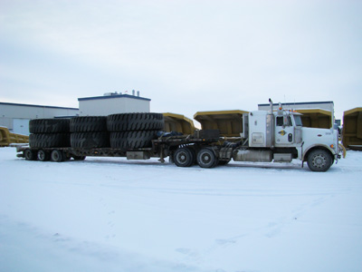 Big Tires for Finning Equipment