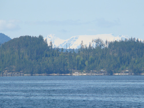 Comox Glacier from Saltery Bay Ferry on the Sunshine Coast