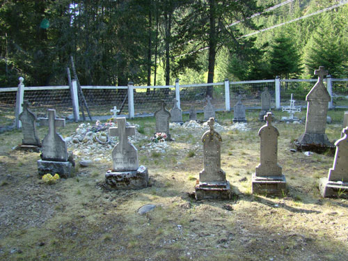 Grave Yard for the James Family near Lillooet Lake