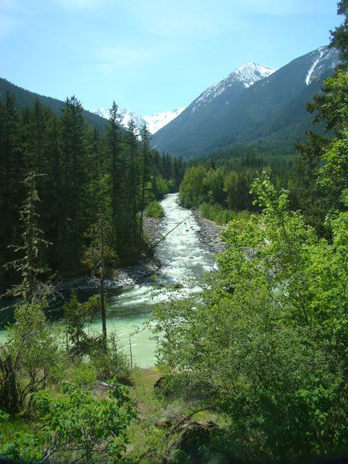 Beautiful River Valley that joins the Lillooet River near Pemberton