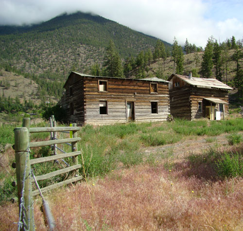 Old farm houses near Apple Creek BC Canada
