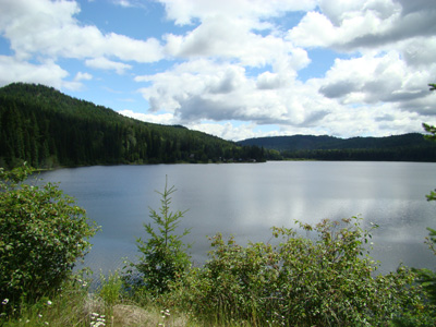 Little Lake in the western caribou region of BC