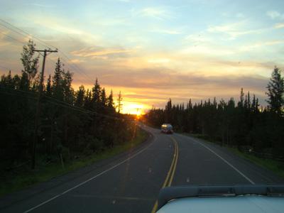 sunset near Kitwanga BC