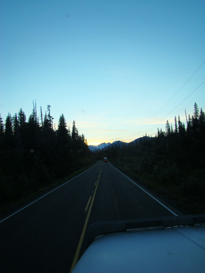 Twilight on highway 37