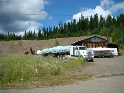 gravel pit near little lake bc